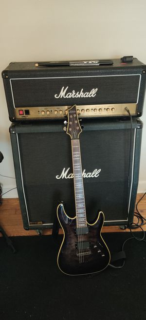 Marshall DSL 100 HEAD, 1960 A LEAD Cabinet, Schecter Hellraiser Special Guitar. for Sale in Trenton, NJ