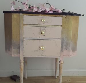 Shabby chic refurbished martha Washington sewing cabinet for Sale in Bucksport, ME