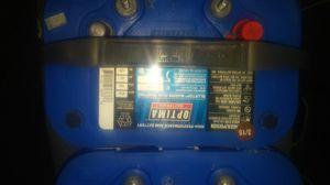 Two optima marine/rv batterys for Sale in Saint Paul, MN