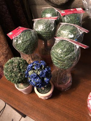 Set of 8 Topiary Tree in Pot for Sale in San Antonio, TX