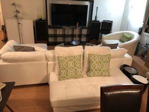 Sofa, table, Spin Chair, Ottoman for Sale in Alexandria, VA