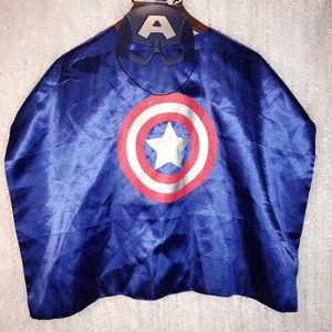 Captain America Cape (USED) & Mask (NEW) Costume Marvel Avenger Endgame Child OS FASTSHIP for Sale in Phoenix, AZ
