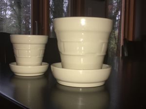 Longaberger Pottery - Flower Pots and Trivet for Sale in Falls Church, VA