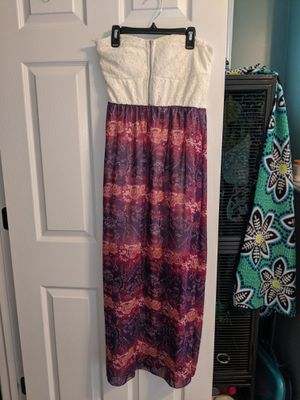 Creme top, purple pink pattern dress for Sale in Cary, NC