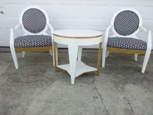 Two Arm Chairs and Table for Sale in Lake Wales, FL