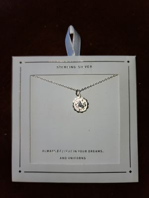 Sterling Silver unicorn pendant necklace for Sale in Jefferson, OH