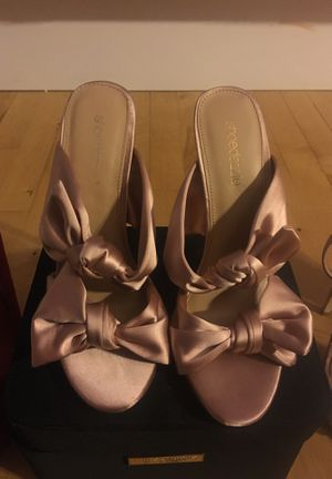 Pink Satin Shoe Dazzle Heels size 6.5 (6 1/2) for Sale in Herndon, VA