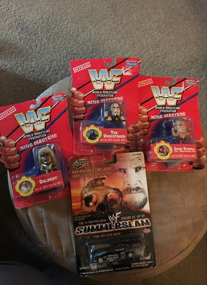 WWE action figures and Road Champs race car. Collectables for Sale in Gilbert, AZ