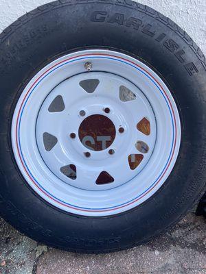 Trailer 1 rim and 2 tires for Sale in Sicklerville, NJ