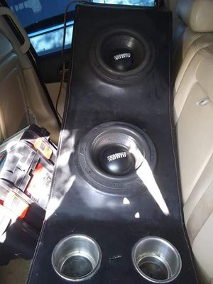 """2 8"""" Sundown Audio X8's 800 RMS Each custom pro box For Center Console Universal asking 700 Lmk if interested i have them on a 2007 Silverado for Sale in San Antonio, TX"""