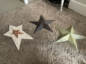Decorative Stars: buy together or separately for Sale in Winchester, VA