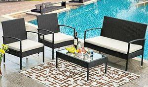 4-piece Wicker/Rattan Patio/Outdoor/Yard/Outside Furniture set - NEW in box for Sale in Deerfield Beach, FL