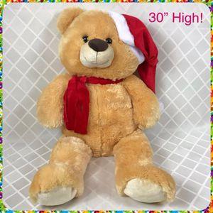 "Huge 30"" Tall SANTA TEDDY BEAR Plush Toy for Sale in Chula Vista, CA"