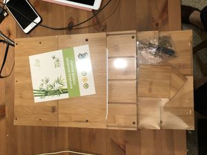 Brand New Beautiful 2-Tier Bamboo Monitor Stand, Laptop Computer Monitor Riser with Adjustable Storage Accessories, Wood Desk Organizer, Now for Only for Sale in Los Angeles, CA