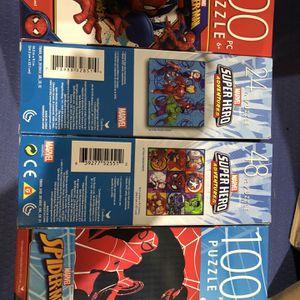 4-Matvel Super Hero Puzzles. for Sale in Mason, OH