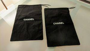 2 Black Chanel Drawstring Pouch Bags Bag for Sale in Plano, TX