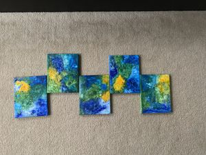 Corel reef abstract wall art (5 canvas) for Sale in Herndon, VA