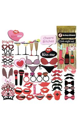 Bachelorette Party Photo Booth Props | 62Pcs for Sale in Redmond,  OR