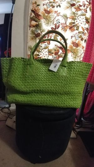 Brand new green tote leather hand bag for Sale in Herndon, VA