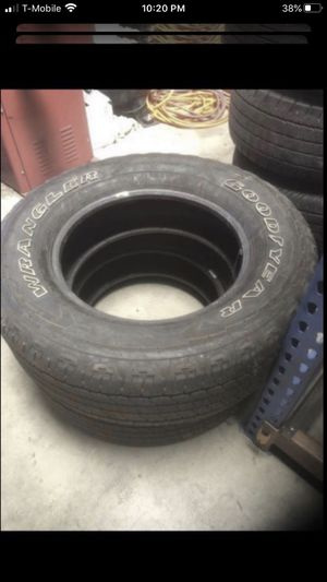 Two tires 275/65/18 Goodyear 70% tread for Sale in Temecula, CA