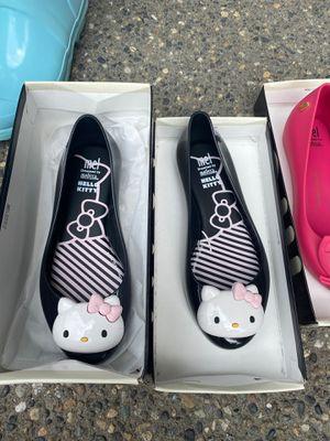 Mel Mini Melissa Hello Kitty Black White Girls Flats Size 2 for Sale in Vancouver, WA