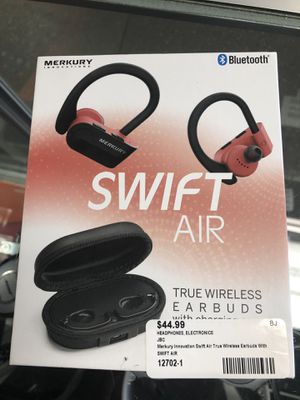 Swift Air Wireless EarBuds with Charging Case #12702-1 for Sale in Revere, MA