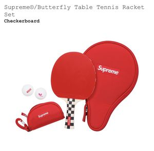 Supreme®/Butterfly Table Tennis Racket Set Style: Checkerboard for Sale in Silver Spring, MD