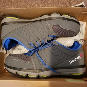 Size 10.5 steel toed shoes, wore one time for Sale in Milwaukee, WI
