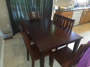 Kitchen table with 6 chairs for Sale in Durham, NC