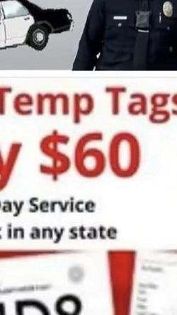 Placas Temporales. Temporary Tags for Sale in The Colony,  TX