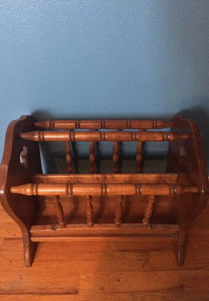 Wooden magazine rack for Sale in Puyallup, WA