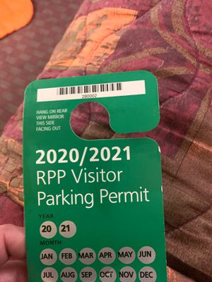 Rpp visitor parking sf pass for Sale in San Bruno, CA