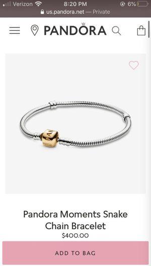 Pandora Charm Bracelet with one charm for Sale in Fife, WA