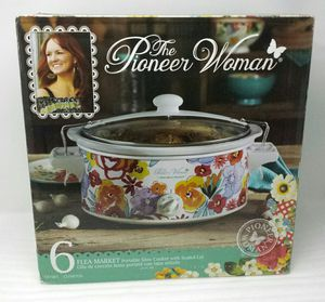 Pioneer Woman Flea Market Portable Slow Cooker 6 Quart Crock Pot for Sale in Springfield, VA