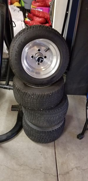 """Golf cart 10"""" rims and tires for Sale in Corona, CA"""