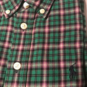 Ralph Lauren Green and Plum Plaid Shirt for Sale in Schaumburg, IL