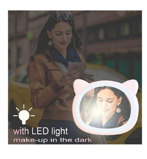 Makeup Mini Mirror Lamp Pink Pig Shape Portable LED Vanity Mirror with Light Compact Mirror for Girls for Sale in Louisville, KY