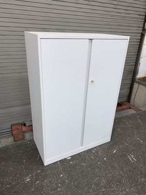 White Storage Cabinet with 3 Adjustable Shelves #13 for Sale in Los Angeles, CA