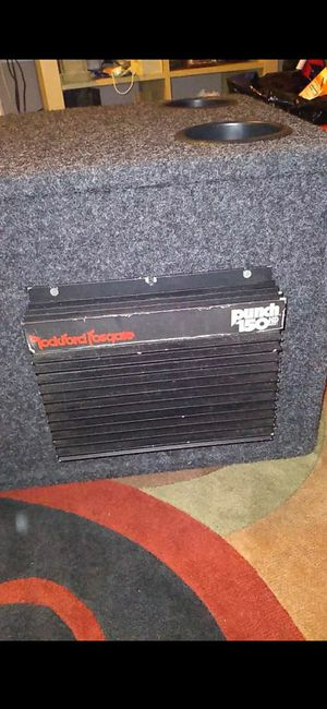 12 inch rockford sub and rockford amp old school for Sale in Naugatuck, CT