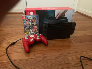 Nintendo Switch with Smash Bros ultimate and a PDP GameCube controller for Sale in Olney, MD