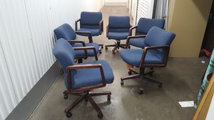 Computer, desk,office blue fabric adjustable chairs. for Sale in South Gate, CA