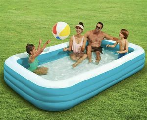 """Play Day Deluxe 10 Foot Inflatable Family Outdoor Swimming Pool 120"""" X 72"""" X 22"""" for Sale in Springfield, VA"""