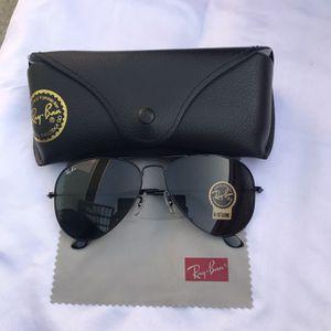 Ray Ban Aviators 3025 Black Unisex Sunglasses for Sale in Miami, FL