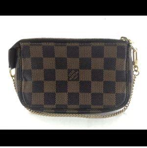 Louis Vuitton Damier Ebene wristlet women's bag for Sale in Modesto, CA