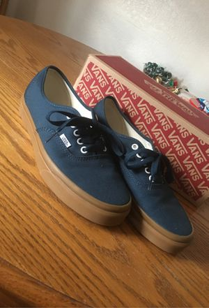 Dark blue and tan sole vans for Sale in Reno, NV