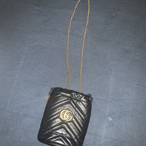 Black Gucci Marmont Mini Bucket Bag for Sale in New York, NY
