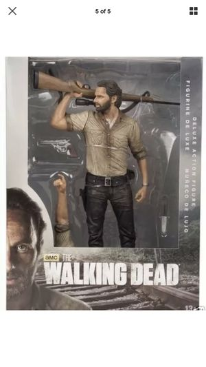 The Walking Dead TV Rick Grimes 10-Inch Deluxe Action Figure - Brand new sealed for Sale in Dearborn, MI