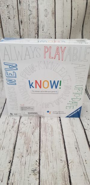 Know! Board game for Sale in Portland, OR