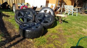 Set 5 of 17 inch audi rims 235/45/r17 for Sale in Portland, OR