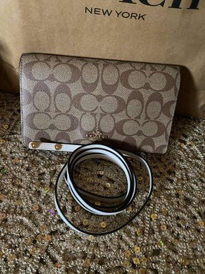 Coach Brown and White Crossbody Bag for Sale in Colton, CA